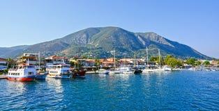 Bahía de Nidri, Lefkada, Grecia Fotos de archivo libres de regalías