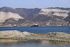Bahía de Novorossiysk Foto de archivo libre de regalías