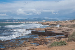 Bahía de Palma del paisaje en febrero Fotos de archivo