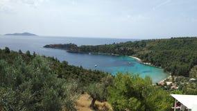 Bahía de Pebble Beach, islas de Grecia fotografía de archivo libre de regalías