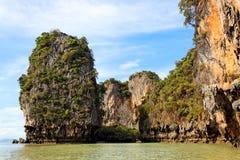 Bahía de Phang Nga, Tailandia Fotografía de archivo