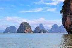 Bahía de Phang Nga, Tailandia Fotos de archivo libres de regalías