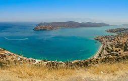 Bahía de Plaka del paisaje del Cretan Fotos de archivo
