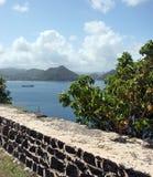 Bahía de Rodney en el Caribe Imagen de archivo libre de regalías
