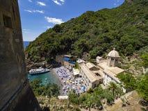 Bahía de San Fruttuoso Foto de archivo libre de regalías