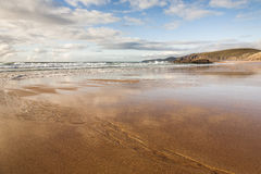 Bahía de Sandwood en Escocia Fotografía de archivo libre de regalías