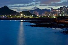 Bahía de Shenzhen (opinión de la noche) Imagenes de archivo
