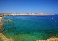 Bahía de Sitia, Crete del este fotografía de archivo
