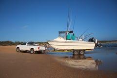 bahía de Sodwana del Esquí-barco Fotos de archivo