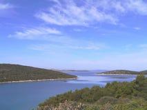 Bahía de Soline de la isla croata Pasman Fotografía de archivo libre de regalías