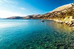 Bahía de Stara Baska en krk Fotografía de archivo