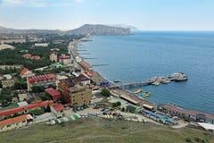 Bahía de Sudak Imagen de archivo