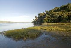 Bahía de Tomales en la puesta del sol Foto de archivo libre de regalías