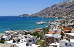 Bahía de Tsoutsouros en la isla de Crete imagenes de archivo