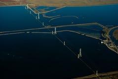 Bahía de Vallejo del aire imagen de archivo