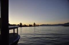 Bahía de Vancouver de la opinión del transbordador fotos de archivo