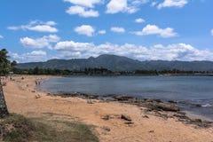Bahía de Waialua en la orilla del norte Oahu, Hawaii imagenes de archivo