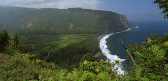 Bahía de Waipio Foto de archivo libre de regalías
