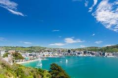 Bahía de Wellington y del puerto Imagen de archivo libre de regalías