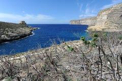 Bahía de Xlendi Fotos de archivo libres de regalías