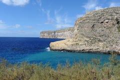 Bahía de Xlendi Imágenes de archivo libres de regalías