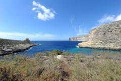 Bahía de Xlendi Imagenes de archivo