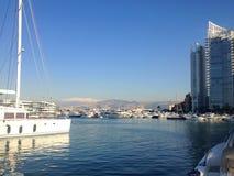 Bahía de Zaitunay en Beirut, Líbano imagenes de archivo