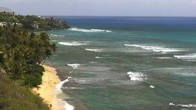 Bahía del ahamoe de KE de Hawaii 'de la cabeza del diamante almacen de metraje de vídeo