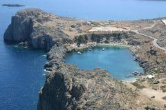 Bahía del anillo en Rodas Foto de archivo