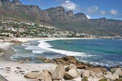 Bahía del campo cerca de Ciudad del Cabo Imagen de archivo