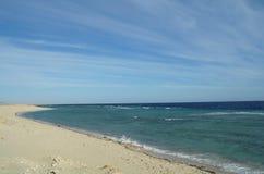 Bahía del desierto en la región del Mar Rojo Imagen de archivo