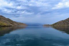 Bahía del luka de los velos en la isla de Krk fotografía de archivo libre de regalías