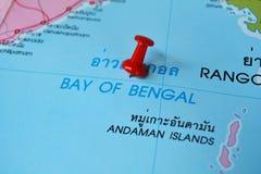 Bahía del mapa bangal foto de archivo libre de regalías