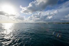 Bahía del mar del Caribe Fotografía de archivo