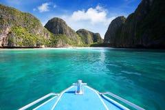 Bahía del maya, isla de Phi Phi Leh Fotos de archivo libres de regalías