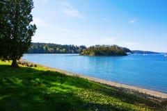 Bahía del misterio, isla de Marrowstone Península olímpica Estado de Washington fotografía de archivo