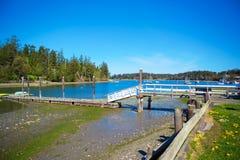 Bahía del misterio, isla de Marrowstone Península olímpica Estado de Washington imagen de archivo
