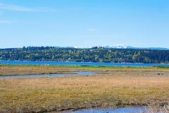 Bahía del misterio, isla de Marrowstone Península olímpica Estado de Washington imágenes de archivo libres de regalías