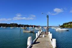 Bahía del molino en el puerto de Mangonui - Nueva Zelanda Imagen de archivo libre de regalías