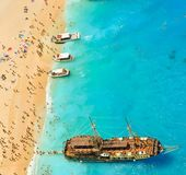 Bahía del naufragio, isla de Zakynthos, Grecia Imagen de archivo