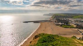 Bahía del oeste, costa jurásica, Dorset, Reino Unido Fotografía de archivo libre de regalías