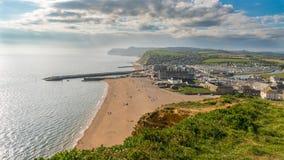 Bahía del oeste, costa jurásica, Dorset, Reino Unido Fotos de archivo libres de regalías