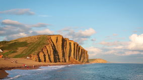 Bahía del oeste, Dorset, Inglaterra almacen de video