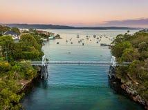 Bahía del perejil en Sydney Harbour foto de archivo