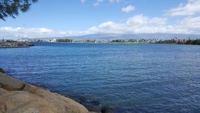 Bahía del puerto de Maui Fotografía de archivo