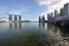 Bahía del puerto deportivo de Singapur Imagen de archivo libre de regalías