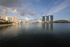 Bahía del puerto deportivo de Singapur Foto de archivo libre de regalías