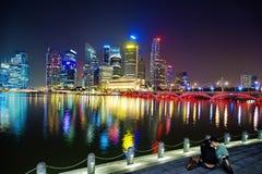Bahía del puerto deportivo de Singapur Foto de archivo