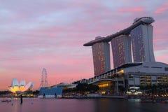 Bahía del puerto deportivo, Singapur Imágenes de archivo libres de regalías