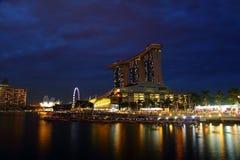 Bahía del puerto deportivo, Singapur Foto de archivo libre de regalías